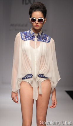 Myna'h Reynu Taandon at WLIFW S/S 2012