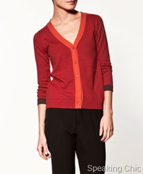 Zara cardigan with contrasting detailing