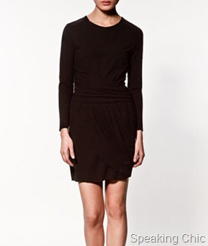 Zara-pleated studio dress