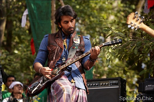 Ranbir Kapoor with guitar in Rockstar