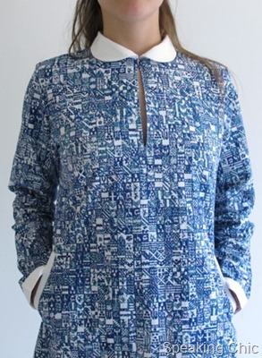 Applied Arts Alliance blue printed dress