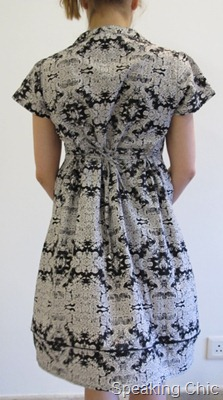 Applied Arts Alliance black printed dress