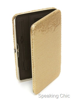 Lucy- Sequinned wallet- Gold from Toniq