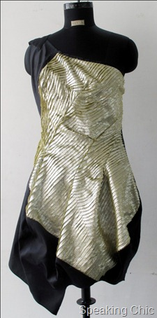 Metallic finish party dress from Vizyon