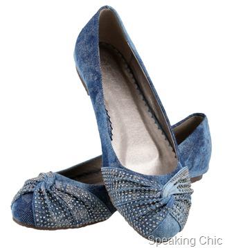 Metro shoes denim ballerinas
