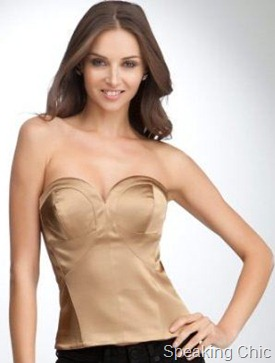 Bebe heart shaped satin bustier