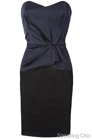 French Connection Winter Love Strapless dress