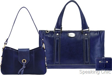 Hidesign lizard leather in midnight blue