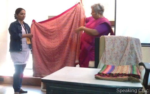 Kala Ghoda sari workshop with Bela Shanghavi