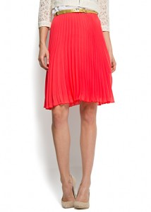Mango pleated flared skirt
