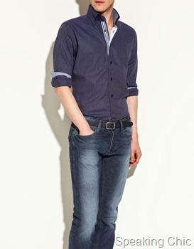 Zara contrast collar shirt