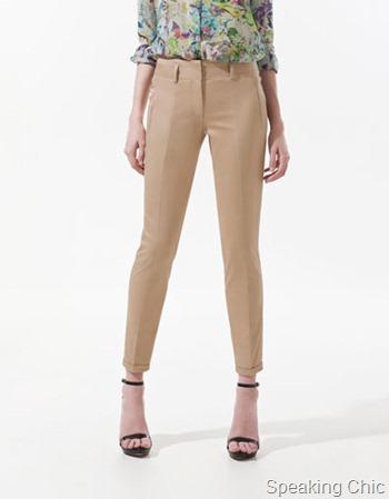 Zara Twill Capri Pants
