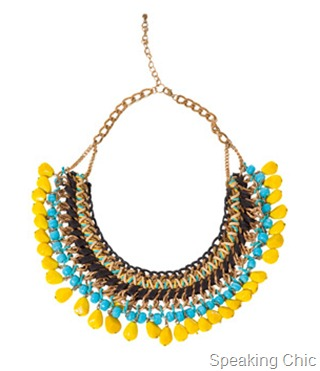 Zara chain cord and colour necklace