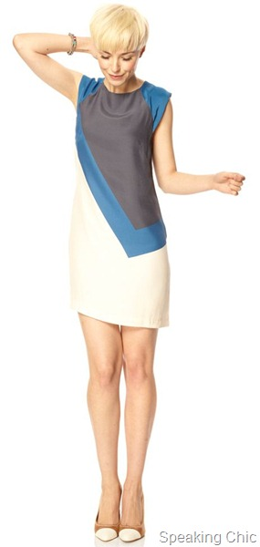 French Connection colour blocked dress
