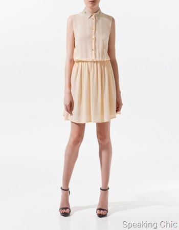 Zara dress with fantasy shirt style collar