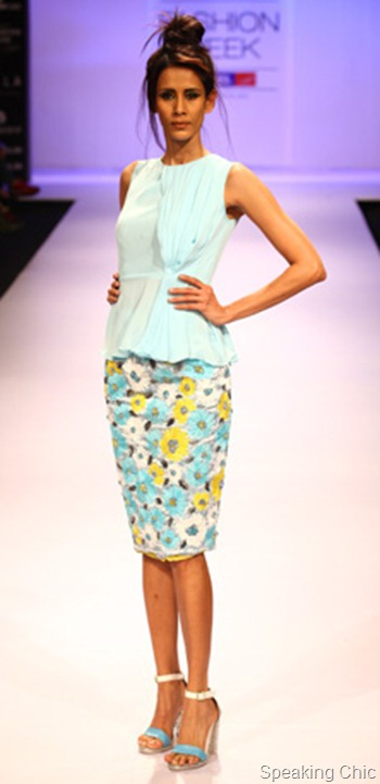Drashta peplum at LFW W/F 2012