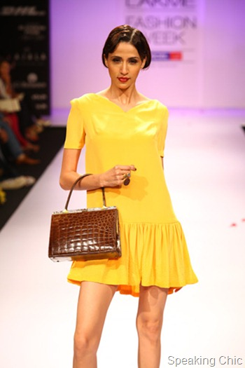 Pernia Qureshi flapper dress at LFW W/F 2012