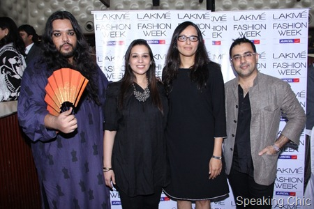 The Lakme Grand Finale Designers with Purnima Lamba, Head Innovations, Lakme - Kallol Datta(L) and Pankaj-Nidhi - Copy