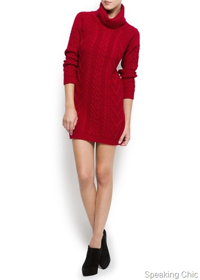 Mango Cable Knit Dress