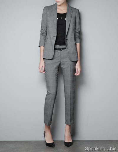 Zara checked blazer 3990
