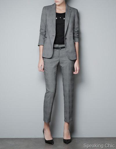 Zara checked blazer 3990