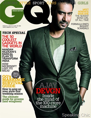 Ajay Devgn in GQ Nov 2012