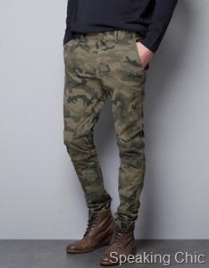 Zara camouflage chinos 3790
