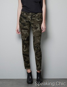 Zara camouflage trousers 3790