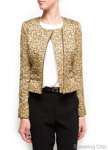 Mango Metallic Brocade jacket 2790