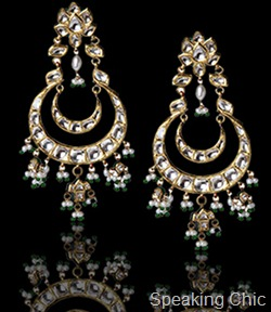 Neety Singh polki earrings