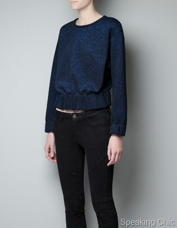 Zara Metallic top with elastic waist 2790