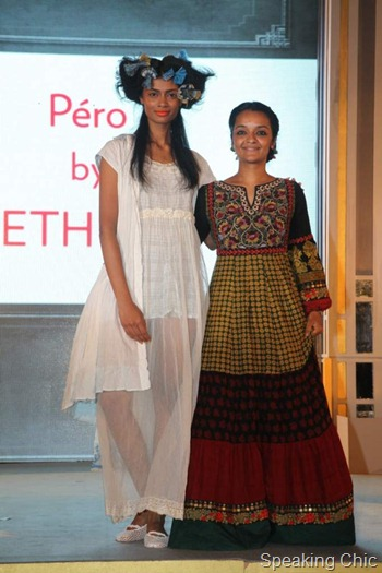 Aneeth Arora, winner of Vogue Fashion Fund with her collection