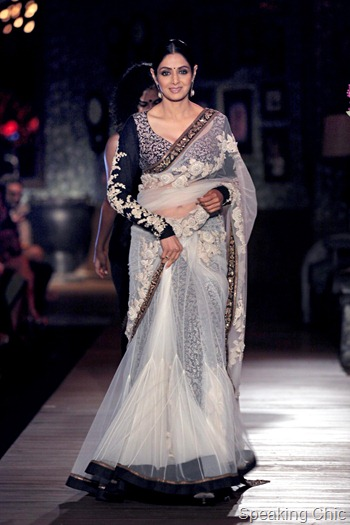 Sridevi for Sabyasachi Couture Week 2012