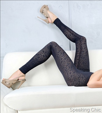 Zivame-Caprice Designer Stretch Lace Leggings