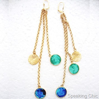 color carnival long earrings inonit