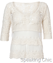 Vero Moda AMELIA LACE 34 TOP- NFSC2 rs 3495