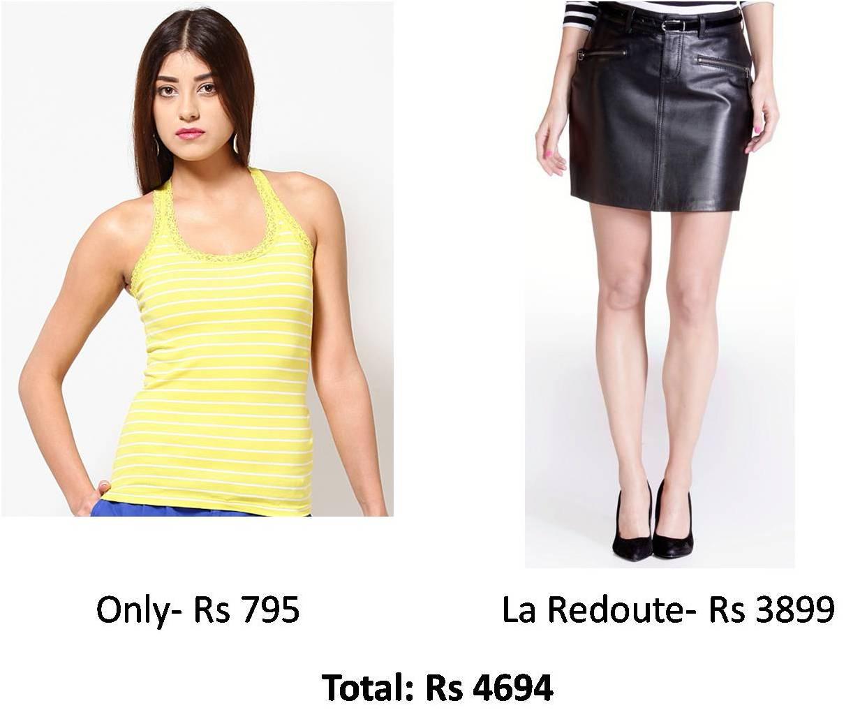 Deepika Padukone Leather skirt look