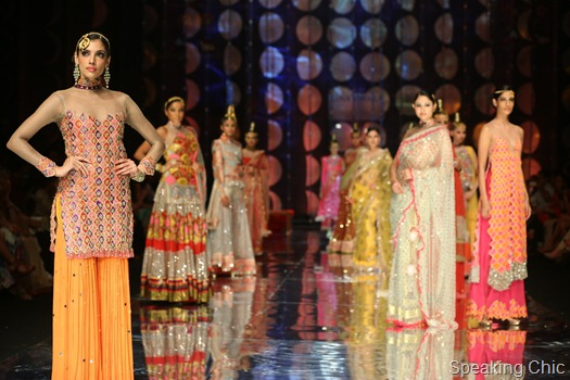 Models for Rina Dhaka- India Bridal Fashion Week