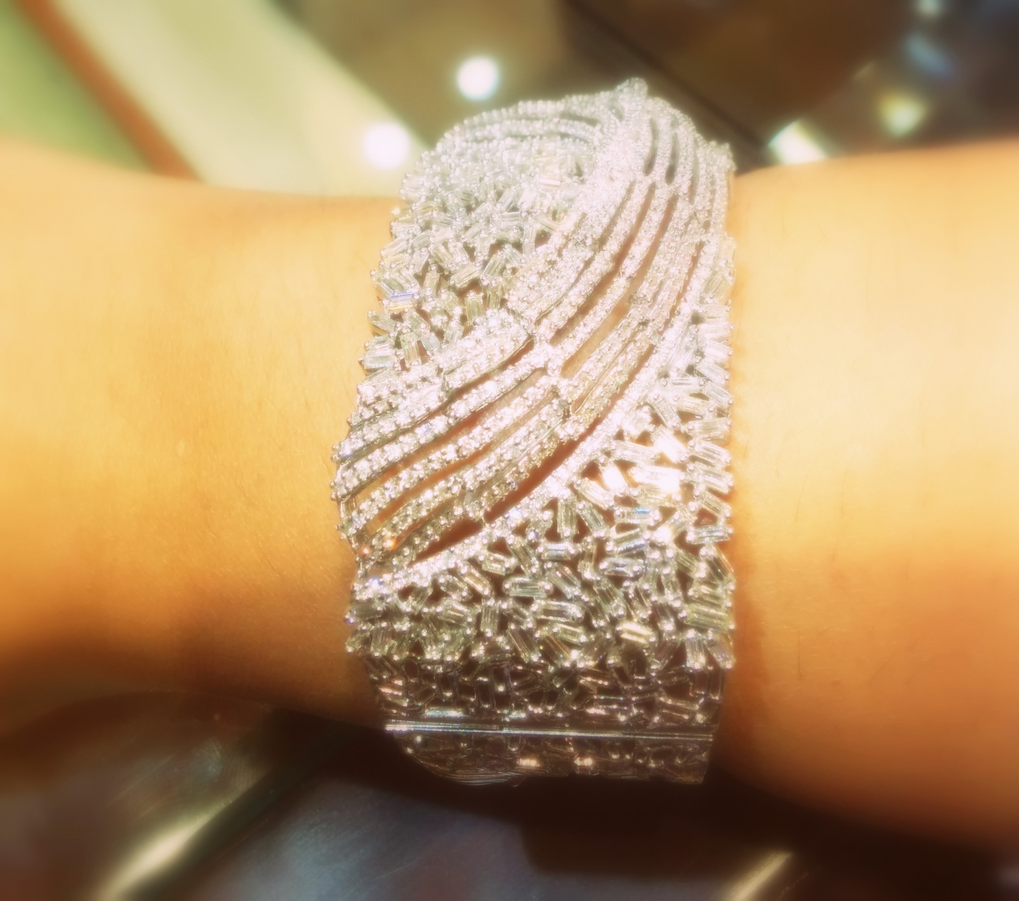 Diamond cuff from Minawala