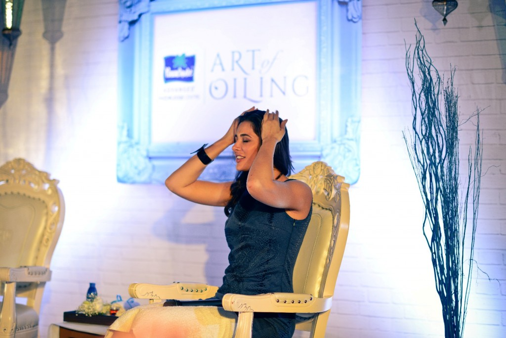 Nargis Fakhri at Parachute Art of Oiling