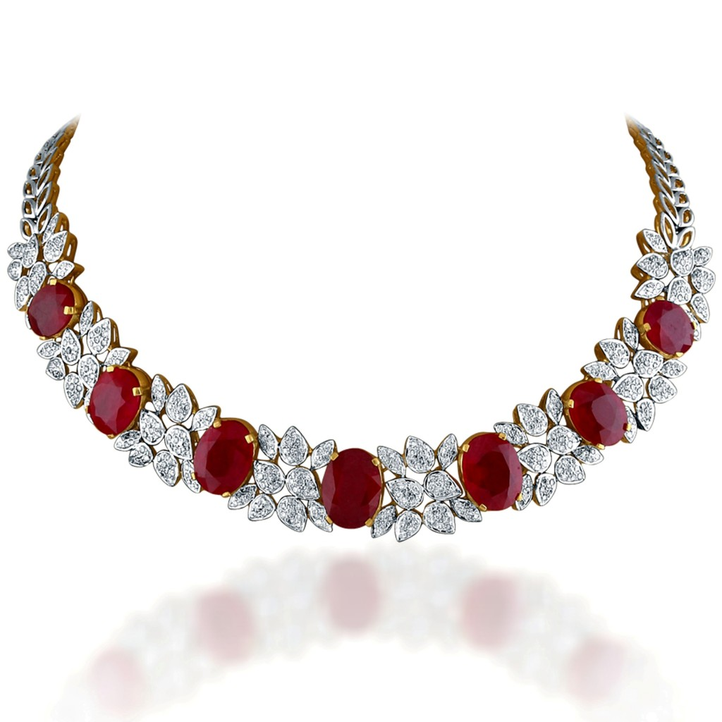 Majestic Ruby Diamond Necklace, Rs 4,90,012