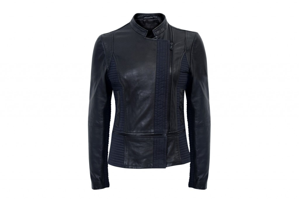 CKJ_women leather jacket