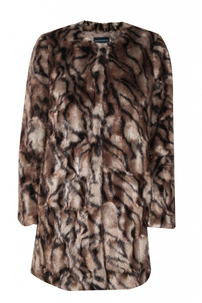 FCUK fur coat