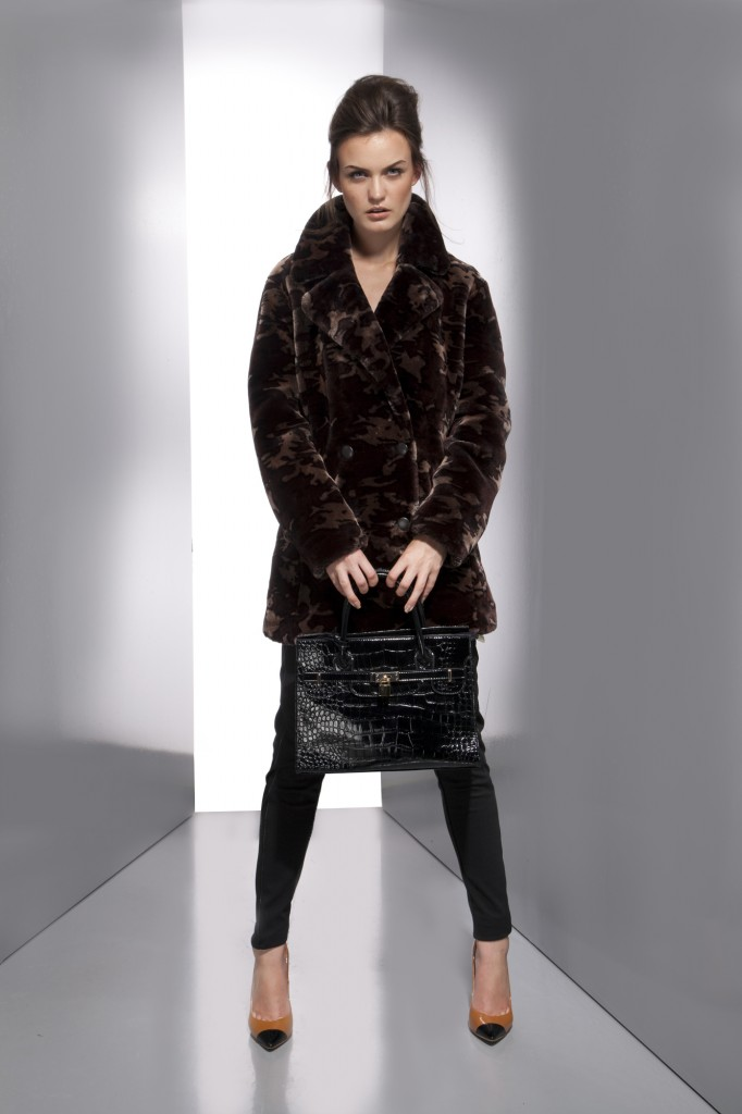 Splash- Winter special party wear- Fuzzy fur coat