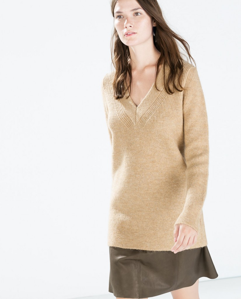 Zara camel long cardigan