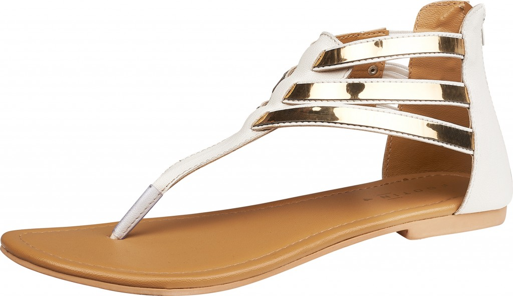 Footin Metallic Flats (White)