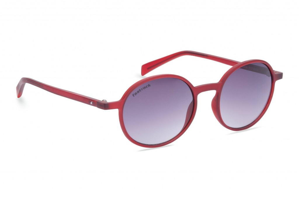 Fastrack red round sunglasses