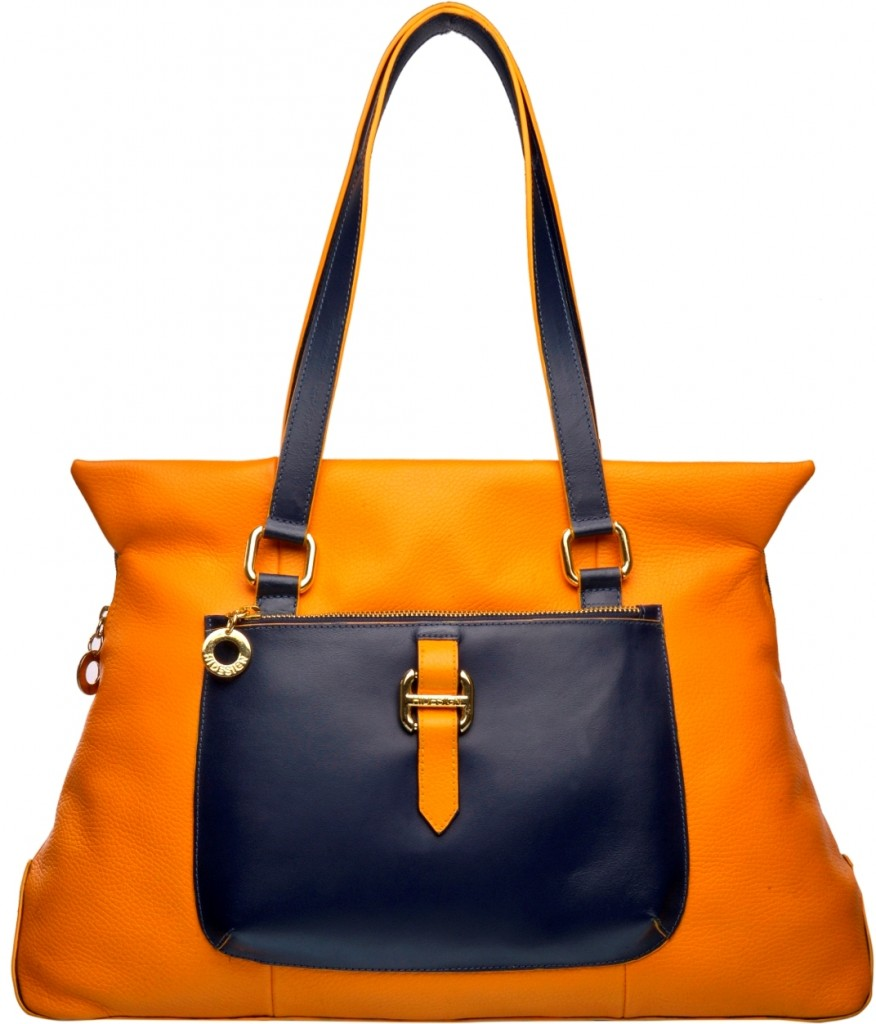 Hidesign orange tote bag