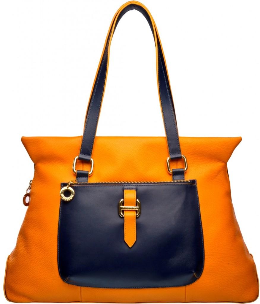 Hidesign orange tote bag