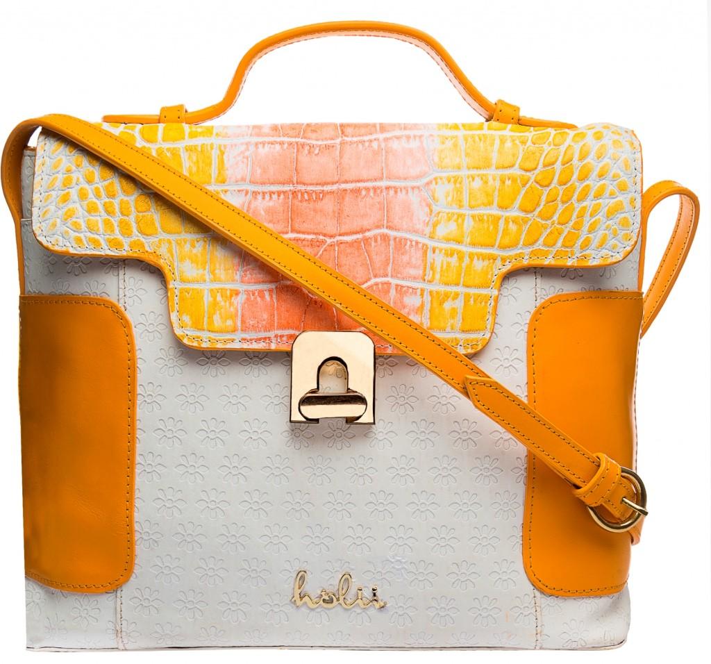Holii Hyacinth white orange bag